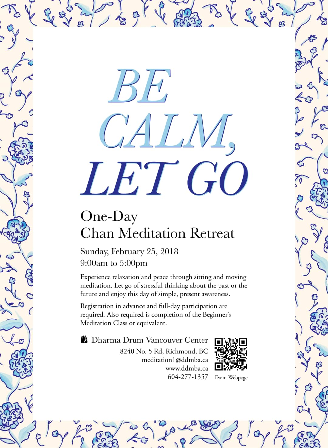 Meditation retreat poster